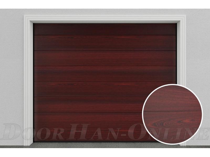 Sekční garážová vrata DoorHan DIY - Mahagon