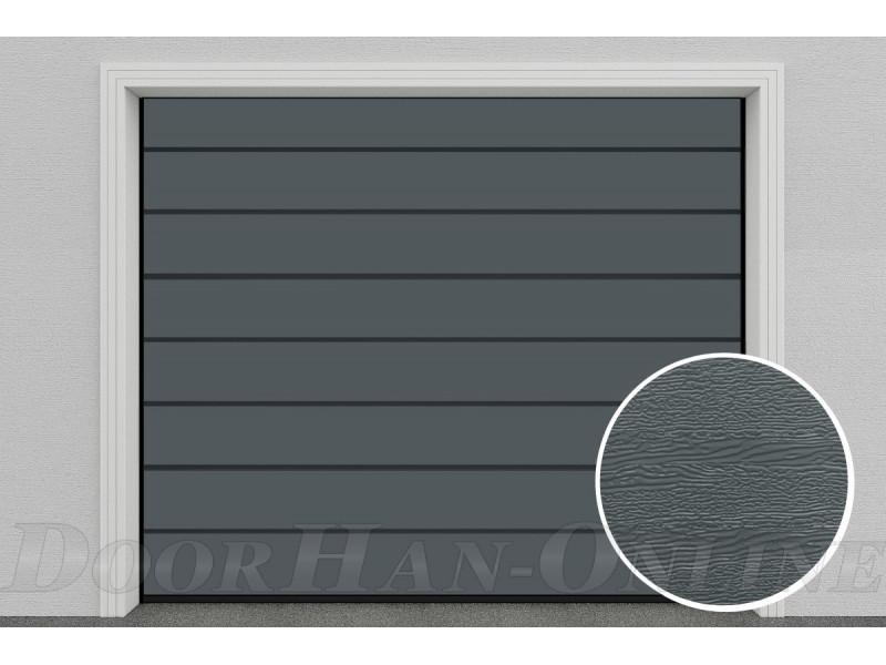 Sekční garážová vrata DoorHan DIY - Ocelově šedá Ral 7011