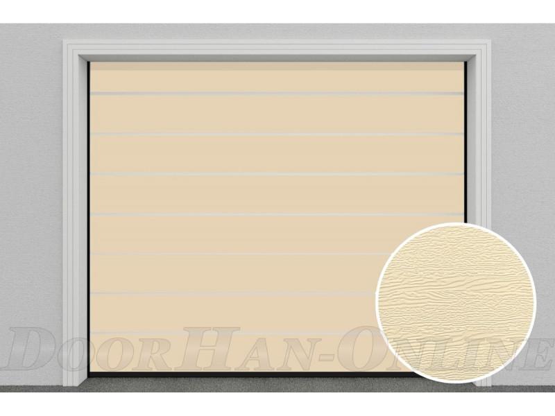 Sekční garážová vrata DoorHan DIY - Slonová kost Ral 1015