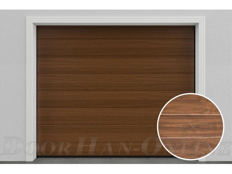 Sekční garážová vrata DoorHan DIY - Tmavý dub