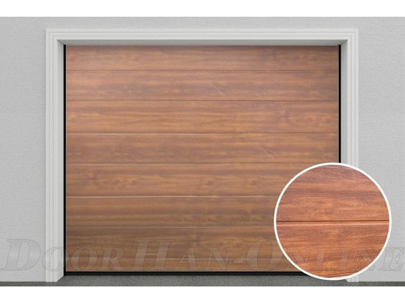 Sekční garážová vrata DoorHan DIY - Zlatý dub