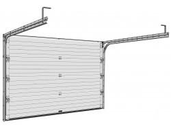 Sekční garážová vrata DoorHan - Hnědá Ral 8014