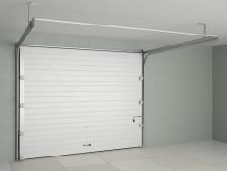Sekční garážová vrata DoorHan - Stříbrné Ral 9006