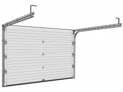 Sekční garážová vrata DoorHan - Tmavý dub