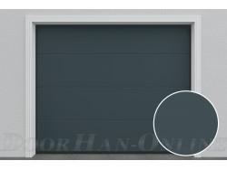 Sekční garážová vrata DoorHan DIY - Antracit Ral 7016 - Hladký povrch